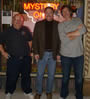 With Richard Katz and David Bieman at the Mystery One Bookstore in Milwaukee